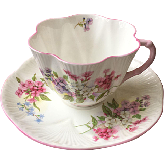 Vintage Shelley stocks Teacup and saucer