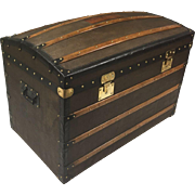 Moynat Antique Courier Dome Trunk