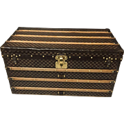 1890s Louis Vuitton Damier Antique Courier Trunk
