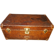 Antique Louis Vuitton Cowhide Leather Cabin Trunk