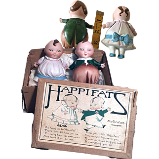 "4"" Happifats with original box - almost impossible to find!"