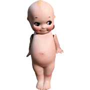 """Adorable 4.5"""" Kewpie with signed O'Neil foot"""