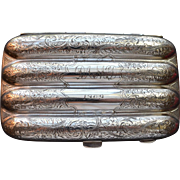 Smith and Bartlam Sterling Silver Cigar Case