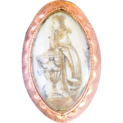 Georgian Mourning Brooch Dated 1788