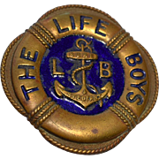 Life Boys Christian Club Enameled Brass Badge