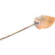 Mother of Pearl Carved Indian Head Spoon