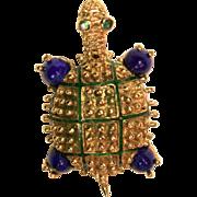 Hammerman Brothers 18K Turtle Pin