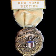 Whitehead and Hoag National Allied Bazaar Badge 1916