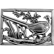 Coro Norseland Sterling Pheasant Brooch