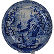 Carey's Lady of the Lake Blue and White Plate - Red Tag Sale Item