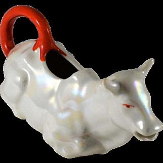 Czechoslavakian Pearlescent Lusterware Figural Creamer