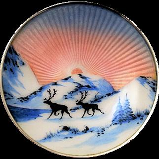 David Andersen Guilloche Enamel Sterling Dish
