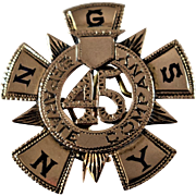 New York National Guard 45th Separate Company Pin