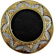 Victorian Mourning Brooch with Hair