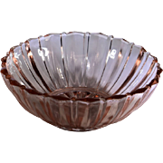 Depression Glass Pink Fortune Pattern Fruit Bowl
