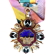 Shriners New Jersey Crescent Temple Medal with Ribbon