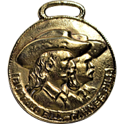 Buffalo Bill and Pawnee Bill Brass Watch Fob