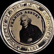 Wesley/Asbury Ferrotype 14K Gold Medallion