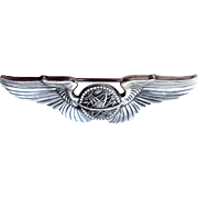 WWII Navigator Wings Coin Silver