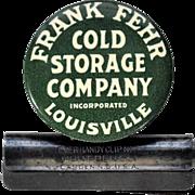 Frank Fehr Celluloid Advertising Desk Clip