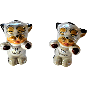 Bonzo Lusterware Salt and Pepper Shakers