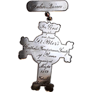 St. Peter's Catholic Church Temperance Society Medal