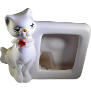 Kitsch Ceramic Cat Picture Frame