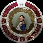 Limoges Cabinet Plate With Napoleon Portrait
