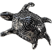 Cast Sterling Silver Turtle Pin