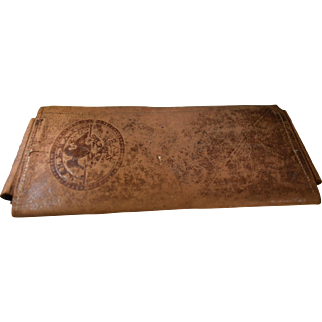 18th Century Leather Wallet Made By G & N Co. Knapp Makers of Syracuse, NY