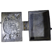Antique Pewter Ice Cream Mold Jack of Hearts