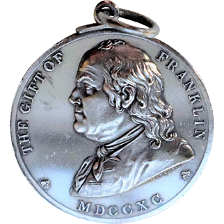 1881 Silver Gift of Ben Franklin Boston School Medal