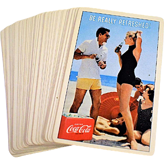 1960 Coca Cola Deck of Playing Cards - Box Missing