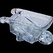 Glass Wheelbarrow Candy Container
