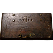18th Century Scales in Wooden Box
