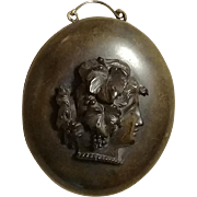 Victorian Vulcanite Cameo Locket