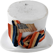 Porcelain Top Hat Toothpick/Match Holder