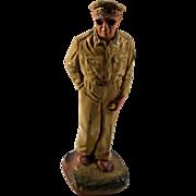 General MacArthur 1950 J. H. Miller Chalkware Figurine