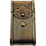 Brass Figural Camera Case Match Safe / Vesta