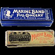 Two M. Hohner Marine Band Harmonicas