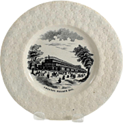 Sheffield Crystal Palace Child's Souvenir Plate