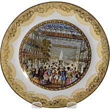 Prattware Crystal Palace Interior Plate