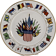 Old Glory and Her Allies Flag Plate by Knowles Taylor and Knowles