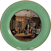 Prattware Plate Showing Independence Hall Interior