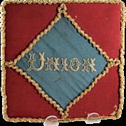 Civil War Ladies Silk Letter/Stationery Holder