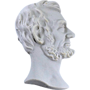 Porcelain Profile of Abraham Lincoln By Illinois Electric Porcelain Co.