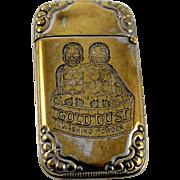 Gold Dust Washing Powder Match Safe Black Americana