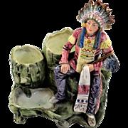 Majolica Native American Tobacco Stand