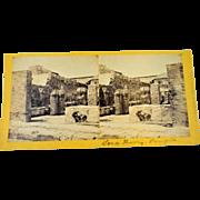 7 Stereoscopic Photographs of 1890's Pompeii