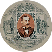 19th Century Louis Pasteur French Commemorative Plate